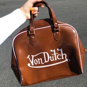 Rare vintage Y2K Von Dutch bowling style bag purse